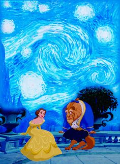 Beauty and the Beast starry night
