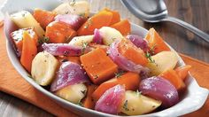 Slow cooked root veg