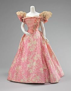 Ball Gown 1895, French, Made of silk