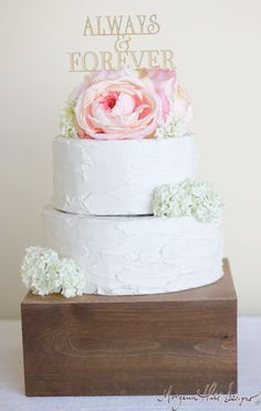 Rustic Wedding Cake Topper Wood Wedding Decor (Item Number 140088)