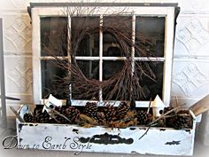 house tours, birdhous, winter window box, earth style, fireplac