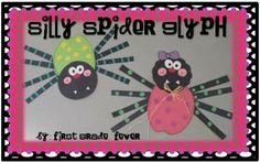 Spider Glyph Craftivity-Adorable!!