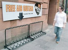 Love this. Air guitar. (Guerilla Marketing)