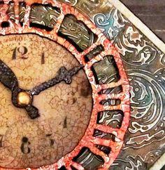 Altered Art Projects | My Altered Art Projects / Metal Foil Embossed Clock