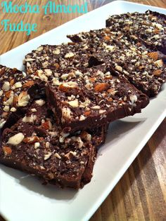 Mocha Almond Fudge #cleaneating #chocolate #dessert