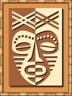African Mask Positive /Negative Design