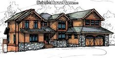 Love this cabin design - House Plan 026905 The Smoky Ridge