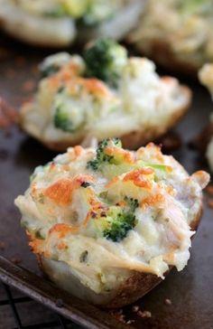 Chicken and Broccoli Stuffed Twice Baked Potatoes