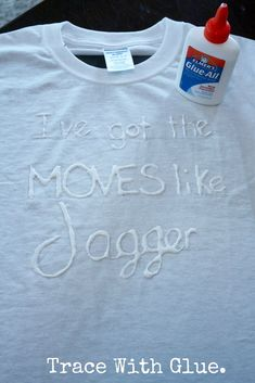 Glue, tea, dye to print t-shirt