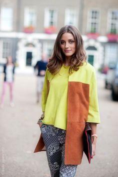 OP fashion, london, neon, olivia palermo, prints