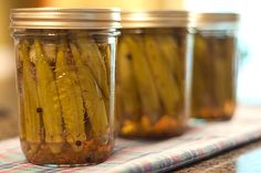 Okra will be ready before you know it! Be sure to pickle some to enjoy all year. Pickled Okra from @Lana Stuart | Never Enough Thyme http://www.lanascooking.com/2010/09/10/pickled-okra/