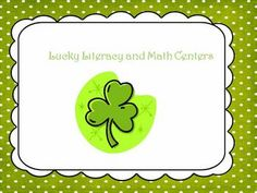 This packet includes 5 Literacy Centers and 1 math center!Literacy Centers1. Lucky Sight Word Bingo2. Lucky Sight Word Memory3. Lu...