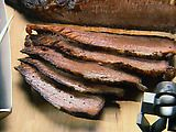 Texas Oven-Roasted Beef Brisket by Paula Deen. I used this recipe for Christmas dinner and it was absolutely superb. Four pounds of brisket gone in 48 hours!