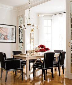 Elegantly Chic Dining Room. #diningroom