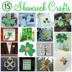 15 Shamrock Crafts for St. Patricks Day @Vanessa Samurio Samurio Samurio Samurio Samurio Mayhew & CraftGossip