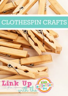 Clothespin Crafts - Post Round Up with Linky
