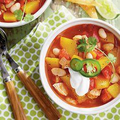 Chicken-and-White Bean Chili with Pumpkin Coastalliving.com
