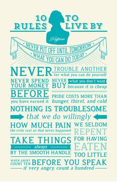 Thomas Jefferson's 10 rules to live by.