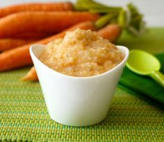 Spiced Carrot, Brown Rice, and Parsley Puree