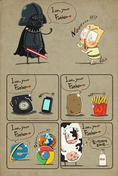 I'm your father.....