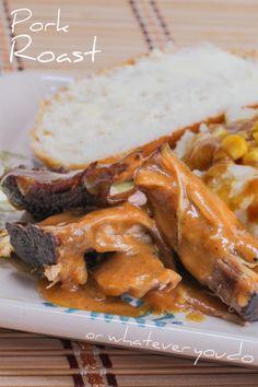 Pork Roast with Gravy I www.orwhateveryoudo.com I #pork #roast #gravy #recipe #winter #comfort_food
