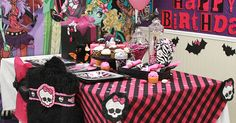 party favors, chair, monster high birthday, birthday parties, birthdays, high parti, birthday idea, monsters, parti idea