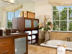 beautiful bathroom built ins