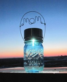 Mom Mason Jar Solar Light Mothers Day Gift by treasureagain http://etsy.me/1eUgK5i