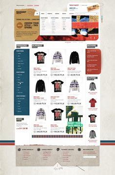 MarkowySklep.pl by Lukasz Sokol, via Behance #e-commerce #ecommerce #commerce #shop #store #online #www #layout #web #webdesign #design #clothing #fashion #shirt #t-shirt #tshirt #wardrobe
