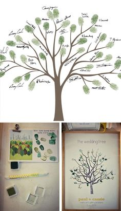 thumb print family tree:  Several of the Ladies that I'm friends with on Facebook have posted these from their babyshowers and they are so beautiful.