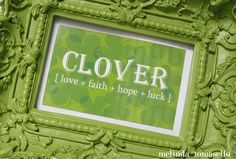 free clover printable for Today's Creative Blog | Melinda Tomasello