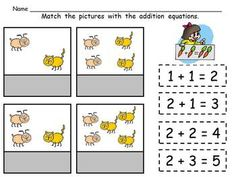 Cut and Paste BEGINNING addition practice!! This packet has 20 cut-and-paste addition practice pages for kindergarten classrooms or as a review in first grade classrooms $