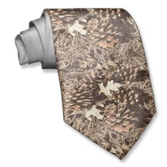Camo Camouflage Hunting Neck Tie.  Great for camo weddings for the groom and groomsmen.