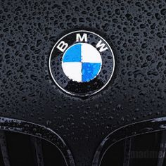 Wet Black BMW - BMW Logo