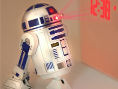 This Star Wars R2D2 Projection Alarm Clock is probably the closest we can get to a hologram projecting R2D2.