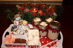 Some of my gifts I made: Original Irish Cream, Candy Cane fudge, Italian Wedding Cookies III, Aunt Teen's Creamy Chocolate Fudge,All these gifts can be found at Allrecipes.com #HomemadeHoliday