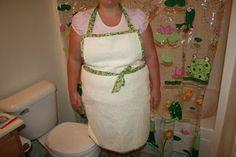 bath towel apron for bathing a baby