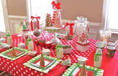 table settings, christmas parties, kids christmas, christmas tables, christmas candy