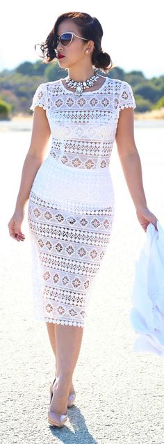 Not crazy about crochet but I like the body in this body con dress