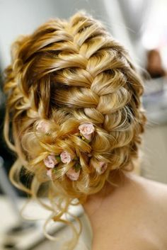 love this fishtail updo!