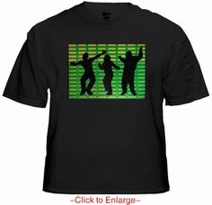 Equalizer Dancers Sound Reactive T-Shirt. Price $24.99