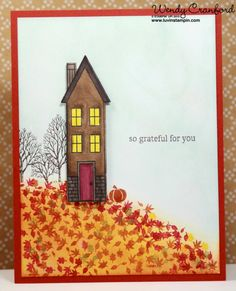 Wowza Wednesday, Holiday Homes stamp set, and framelits, Fall Cards are so fun to make using Stampin' UP!'s regals color family.  http://www.luvinstampin.com/2014/09/wowza-wednesday-5-founders-circle-swap.html