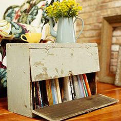 side tables, book nooks, flea market finds, book storage, bookcas, flea markets, end tables, old cabinets, kitchen cabinets