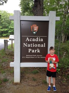 Ollie made his first trip to Acadia National Park. Its famous carriage road system has 17 stone-faced bridges, each of which is unique.