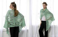 Celtic Knot Shawl Crochet Pattern
