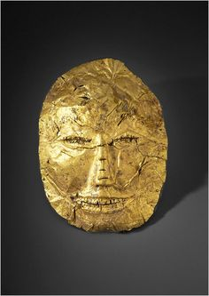 A burial mask, 500 B.C. to A.D. 200, Javanese, South East Asia