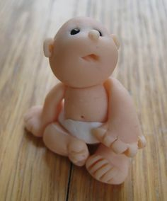 Hand Sculpted Polymer Clay Mini Baby Diaper by theminabucket