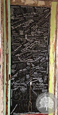 How to make an awesome Vintage Chalkboard Door like this one from Southern Accents! #diy