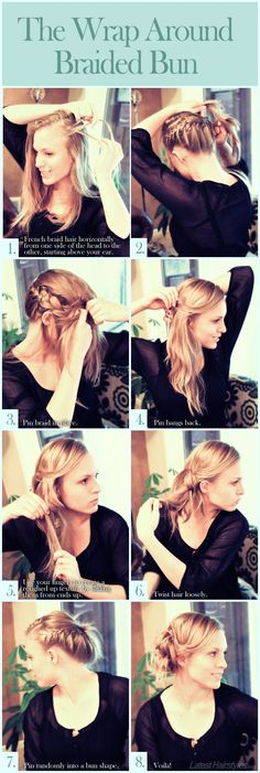 Love this look! Now to just grow my hair out and learn how to french braid...