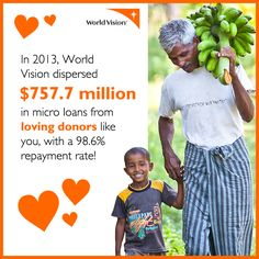 1.3 billion people worldwide are living on less than $1.25 a day. When you're that far behind, it's hard to get ahead. That's why World Vision facilitates savings groups, improves market development, and provides access to microfinance, helping to break the cycle of poverty.